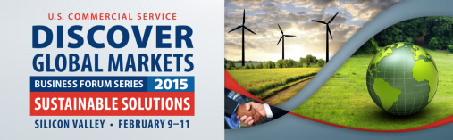 US Commercial Service conference logo for Discover Global Markets: Sustainable Solutions